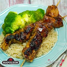 Chicken Skewers with Balsamic Baste
