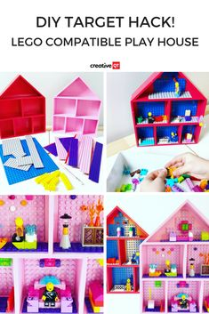 This DIY Target Hack for a LEGO DOLLHOUSE will ensure hours of creative play!  #lego #kidactivities #diy #targetdollarspot
