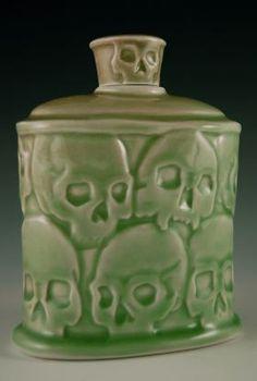 Steven Cheek: Skull Pottery