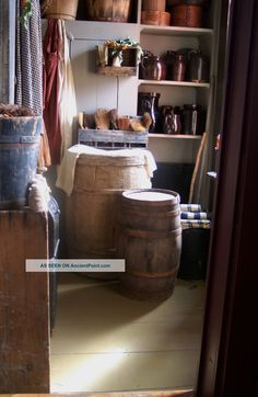 Primitive Early Old Wood Barrel Keg Large Size Excellent Display ...