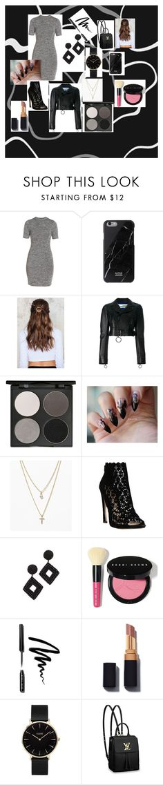 """""""Dressy/Casual"""" by jensencaitlin0322 on Polyvore featuring French Connection, NA-KD, Off-White, Gorgeous Cosmetics, LOFT, Sophia Kah, Kenneth Jay Lane, Bobbi Brown Cosmetics, CLUSE and Louis Vuitton"""