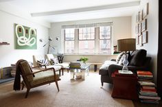 Generous seating in the living room allows for stylish entertaining.