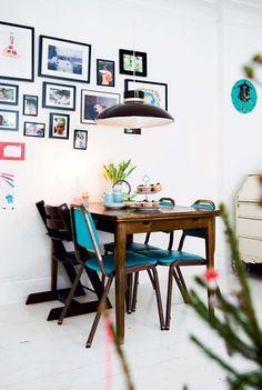 Värikkäitä yksityiskohtia ja persoonallisia koteja