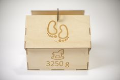 The weight of child #babybox #baby #bambino #gift #box #wood