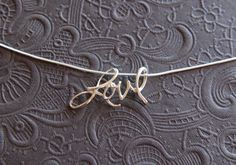 Cursive love pendant necklace in sterling von jersey608jewelry, $36.00