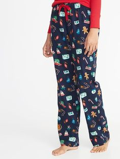 a465a55c5129 Patterned Flannel Sleep Pants for Women Color  Blue Christmas Old Navy 2018