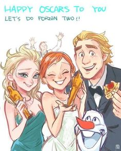 So cute! Hans is Cumberbombing in the background... And Kristoff is eating the pizza that Ellen ordered.