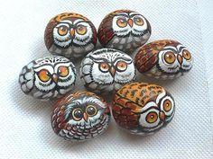 Rockpainting - Owl 0011