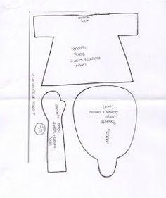 Выкройка куклы тильды щелкунчика в натуральную величину