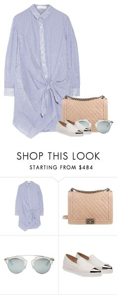 """""""Untitled #7656"""" by fanny483 ❤ liked on Polyvore featuring Thakoon Addition, Chanel, Christian Dior and Miu Miu"""
