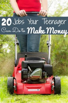 20 Jobs Your Teenager Can Do to Make Money - The Frugal Navy Wife Lawn Maintenance Service, Lawn Care Tips, Bokashi, Sharing Economy, Thing 1, Safety Tips, Extra Money, Extra Cash, Lawn Mower