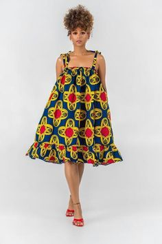 Here at Grass-fields we have an awesome range of African dress designs. Whether you're after an African print maxi or midi dress, we've got something for you. Short African Dresses, Latest African Fashion Dresses, African Print Dresses, African Print Clothing, African Print Fashion, Africa Fashion, Floaty Summer Dresses, Simple Dresses, Ankara Maxi Dress