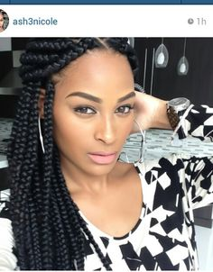 Got me wanting some large box braids; now to find the perfect salonist Poetic Justice Braids, Poetic Braids, Cornrows, African Hairstyles, Braided Hairstyles, Protective Hairstyles, Love Hair, My Hair, Curly Hair Styles