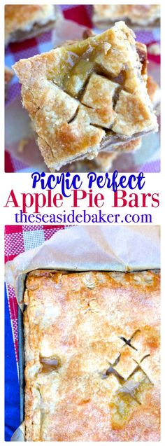Thick buttery crust filled with sweet apple pie filling, making these the perfect slice and serve summer dessert (Apple Recipes) Homemade Desserts, Köstliche Desserts, Best Dessert Recipes, Summer Desserts, Apple Recipes, Fall Recipes, Baking Recipes, Delicious Desserts, Baking Ideas