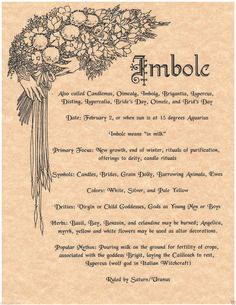 Imbolc - Candlemass - Pagan - Pinned by The Mystic's Emporium on Etsy