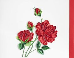 Quilling Card | Red Rose