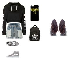 """""""Untitled #9"""" by disneygirlfaith on Polyvore featuring beauty, Topshop, LE3NO, Vans and adidas Originals"""