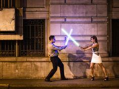 Star Wars Engagement Shoot   10 Fun Engagement Shoot Ideas We Love   https://www.theknot.com/content/creative-engagement-photo-ideas