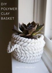 The Beginner's Guide to Crafting with Clay: Polymer Clay Baskets | Pretty Prudent