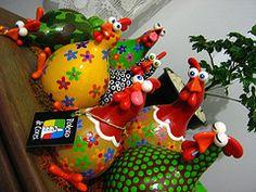 brazilian chicken gourd | carambola arte em feltro) Tags: galinha cozinha cabaa porongo ...