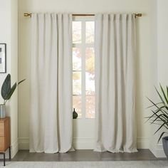 west elm's window curtains bring affordable style to the room. Find drapes and window hardware at west elm. Cotton Curtains, Floral Curtains, Velvet Curtains, West Elm Curtains, Natural Curtains, Vintage Curtains, Sheer Drapes, Modern Curtains, Windows