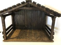 X-Large Wood Nativity Stable / Creche/Manger, gift ideas, primitive, holiday decor, christmas mangers Christmas Crib Ideas, Christmas Manger, Christmas Nativity Scene, Christmas Crafts, Christmas Decorations, Holiday Decor, Nativity Scenes, Christmas Printables, Outdoor Nativity Scene