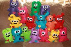 Stuffed Monsters - too cute...Little monsters by WishingOnStarz on Etsy