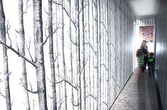 Christiane Lemieux's tree-lined hallway  http://www.theglow.com/christiane-lemieux/?i#13