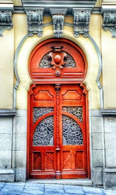 Madrid, Spain. There's something about red doors I love...