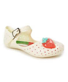 Look what I found on #zulily! Beige Strawberry Lisa Jelly Mary Jane by America Dogs #zulilyfinds