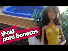 Como fazer uma piscina para bonecas Barbie & Monster High - YouTube