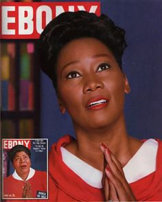 To celebrate its 65th anniversary issue and icons of the past, EBONY magazine chose current celebs to play them: Yolanda Adams as Mahalia Jackson