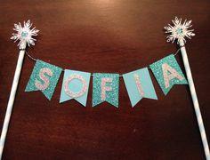 Frozen Bunting Banner / Cake Banner / Cupcake Topper