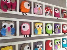 Cadre deco chambre enfant Et bebe oiseaux hiboux - bébé - Bichatandfriends - Fait Maison