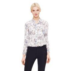 Shirt with floorplan print!!!!!!  Mori Printed Shirt - Club Monaco Long Sleeve - Club Monaco