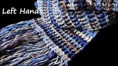 starfish stitch scarf left hand - YouTube