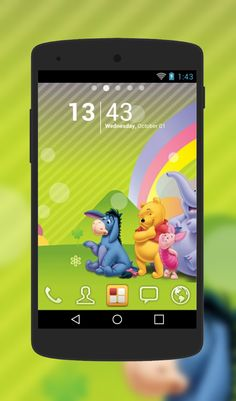 Winnie Pooh theme for Android Phone  http://androidlooks.com/theme/t0928-winnie-pooh/   #WinniePooh, #android, #androidthemes, #customization, #cartoon, #goLauncher