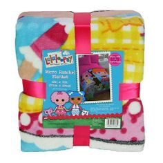 Lalaloopsy Blanket by RJ Quality Products. $37.55. Super Soft and Comfortable. Large enough for a twin bed. 100% Polyester. 62in x 90in. The Lalaloopsy Blanket is a generously sized 62x90 micro raschel blanket features Crumbs Sugar Cookie and Bea Spells-a-lot. Its super soft feel makes it great for sleepovers, wathread counthing TV, playtime or family time. It's machine washable for easy care.