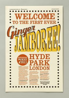 """Ginger Jamboree """"a free one-day event that would be held in Hyde Park London, to celebrate red hair"""""""