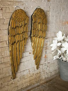 Wooden Carved Angel Wing...