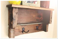 Rustic/Reclaimed/Pallet Barn Wood Shelf   by: BrandNewToMe on Etsy