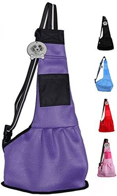 Vivaglory Mesh Pet Slings Single Shoulder Carriers for Dogs Rabbits and Cats 3 Sizes  5 Colors *** For more information, visit image link.Note:It is affiliate link to Amazon.