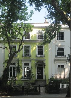 Holland Park, London  I always looked forward to seeing this house on my bus ride to college every day. It's so bright and happy, and UNIQUE!