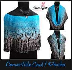 crochet convertible cowl / poncho - http://beacrafter.com/crochet-convertible-cowl-poncho/?fref=gc&dti=202989383146578