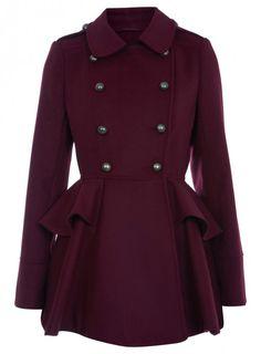 peplum coats | Chelsea's Style Tips: Peplum Trench Coats