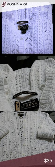 Eddie Bauer legend 100% Cotton handmade Warm cozy great comfortable - Any season! EDDIE BAUER - Legend Sweaters Cardigans