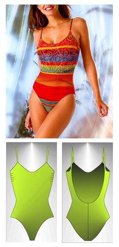 Swimsuit sewing pattern Tymor - Patrón de traje de baño Tymor