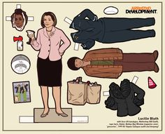 Paper dolls from TV shows and movies by illustratorKyle Hiltonon Tumblr