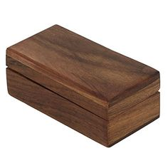 Wooden Trinket Jewelry Box Sleek and Simple Gift for Her 4 X 2 X 15 Inches -- You can get more details by clicking on the image.