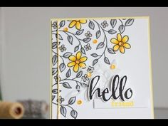 Little Crafty Pill: Gray and yellow any occasion card